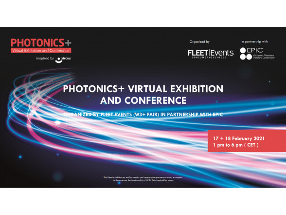 ISSP UL's MATERIZE unit participates in PHOTONICS+ Virtual Exhibition and Conference